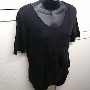 Talbots Petites Black V Neck T-Shirt
